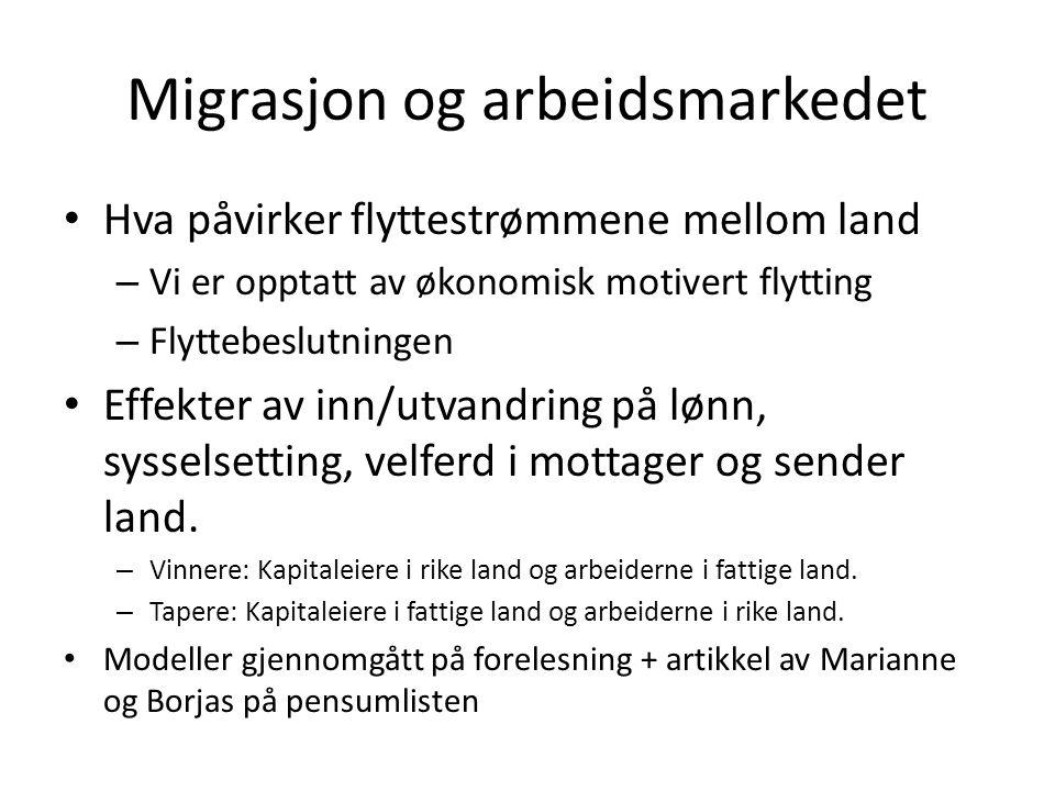 Migrasjon og arbeidsmarkedet