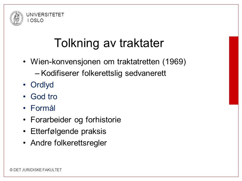 Tolkning av traktater Wien-konvensjonen om traktatretten (1969)
