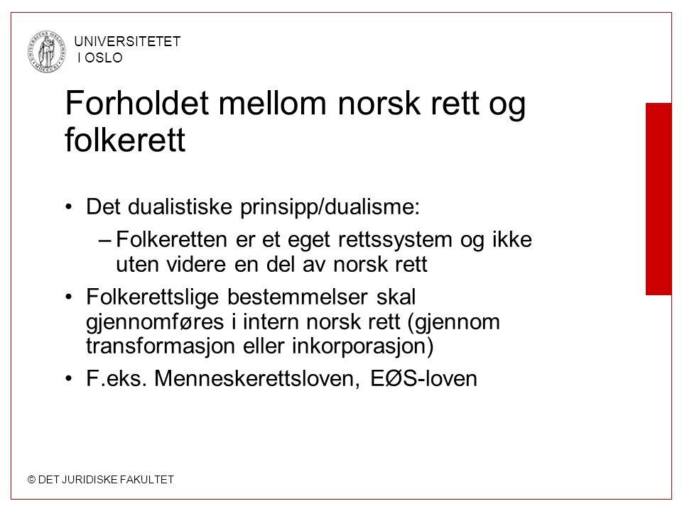 Forholdet mellom norsk rett og folkerett