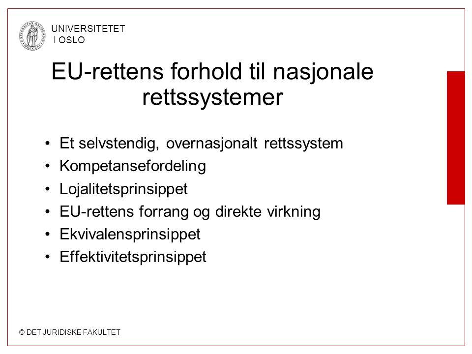 EU-rettens forhold til nasjonale rettssystemer