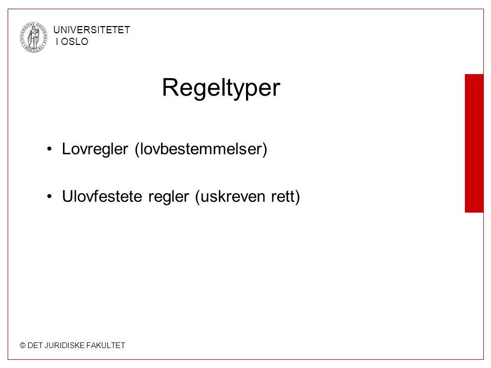 Regeltyper Lovregler (lovbestemmelser)