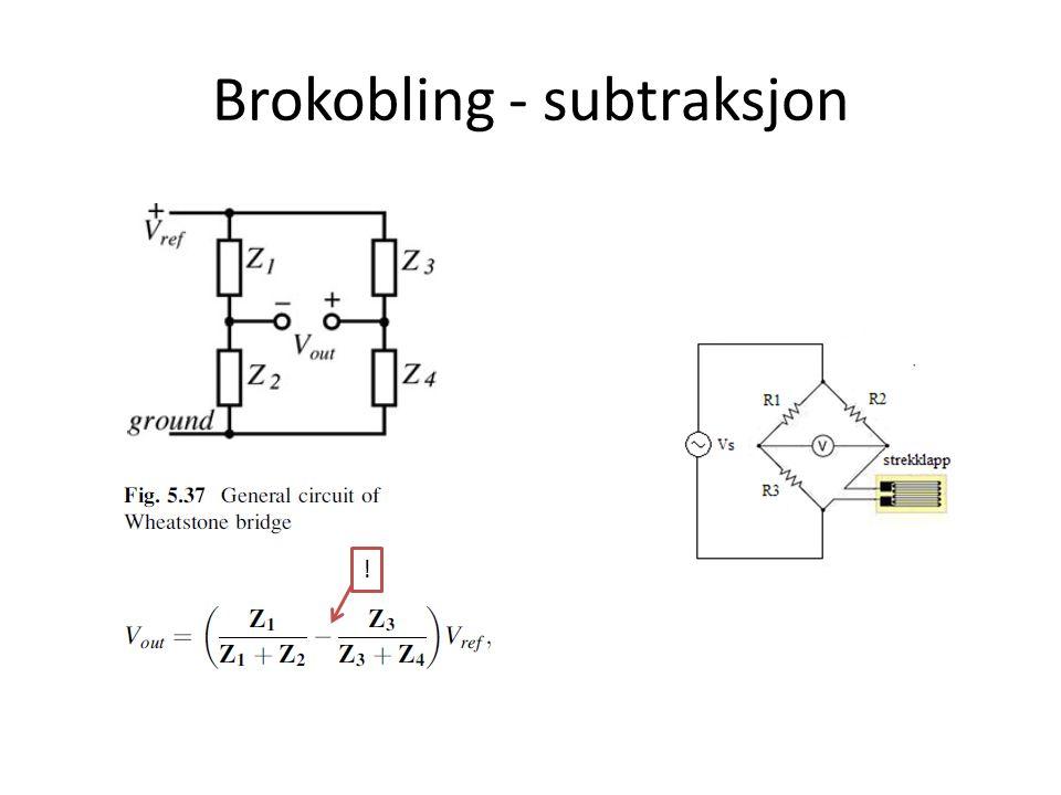 Brokobling - subtraksjon