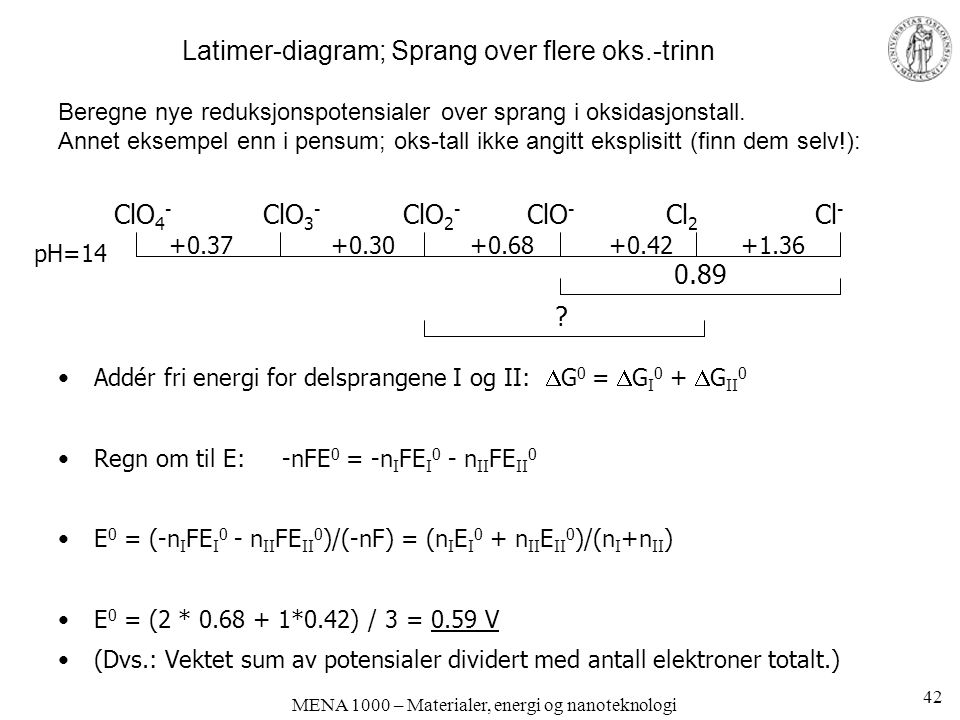 Latimer-diagram; Sprang over flere oks.-trinn