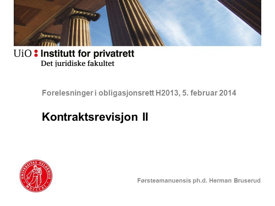 Forelesninger i obligasjonsrett H2013, 5. februar 2014