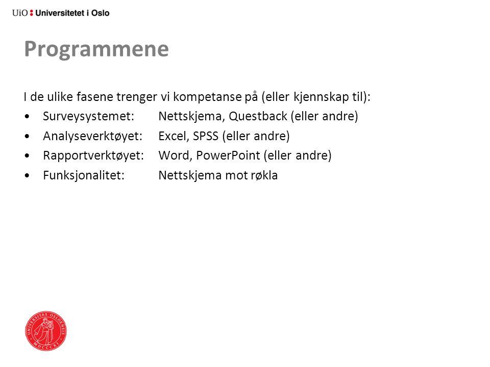 Programmene