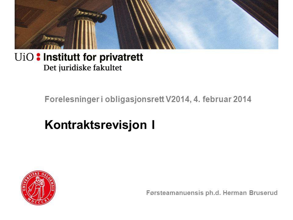 Forelesninger i obligasjonsrett V2014, 4. februar 2014