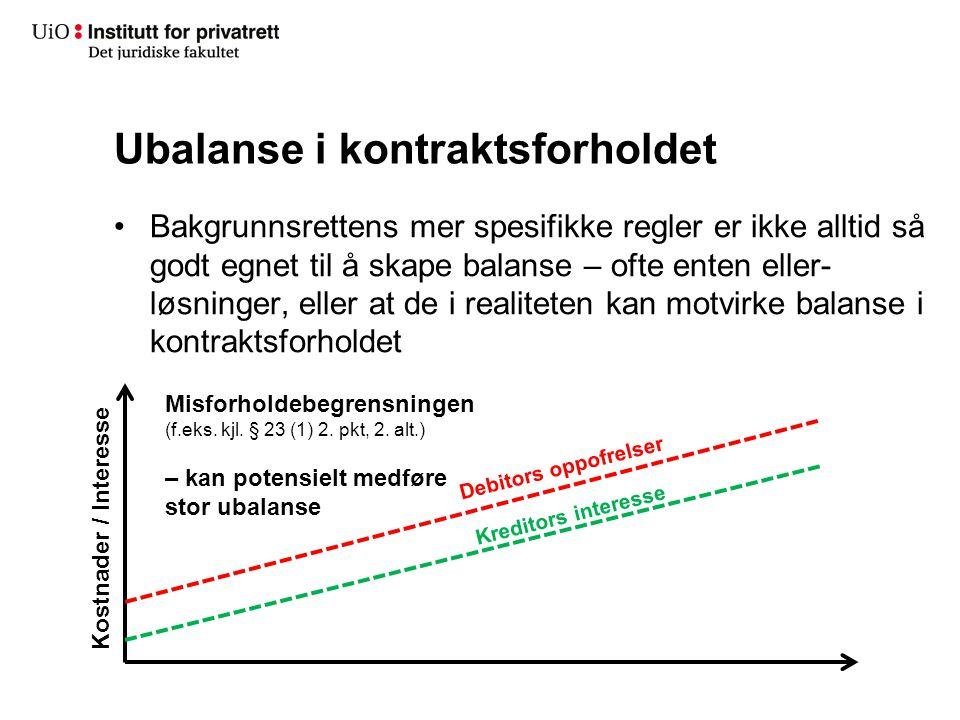 Ubalanse i kontraktsforholdet