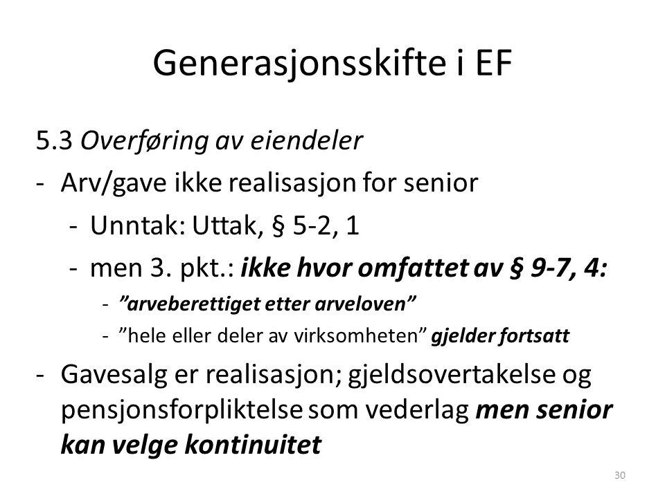 Generasjonsskifte i EF