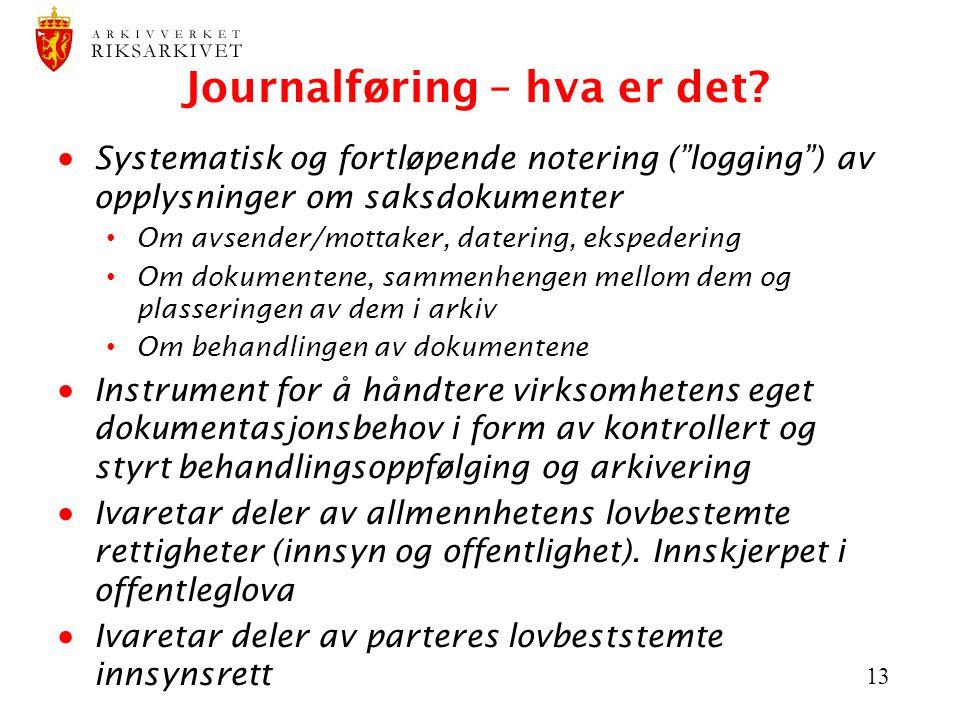 Journalføring – hva er det