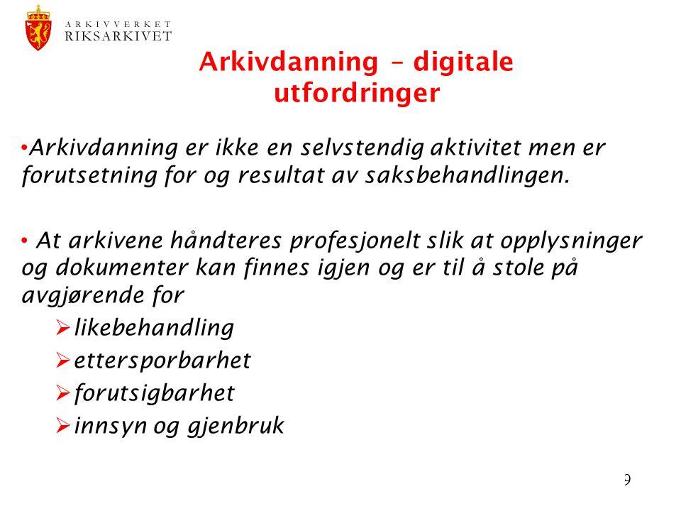 Arkivdanning – digitale utfordringer