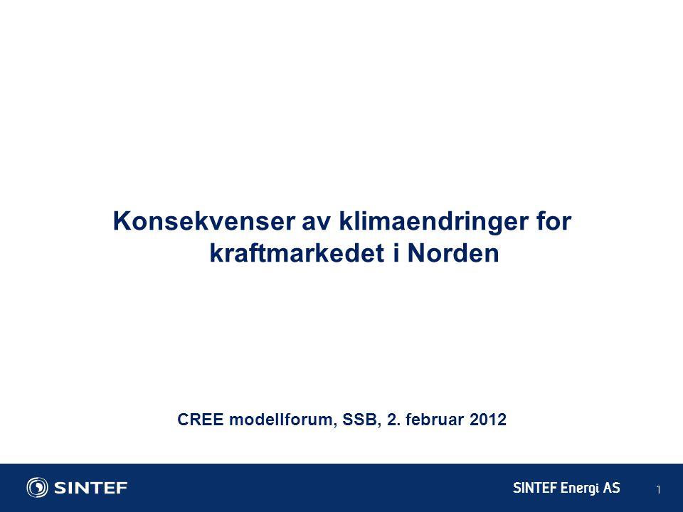 Konsekvenser av klimaendringer for kraftmarkedet i Norden