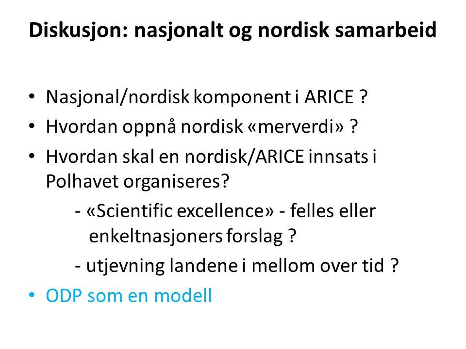 Diskusjon: nasjonalt og nordisk samarbeid
