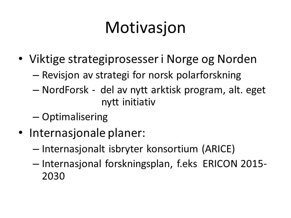Motivasjon Viktige strategiprosesser i Norge og Norden