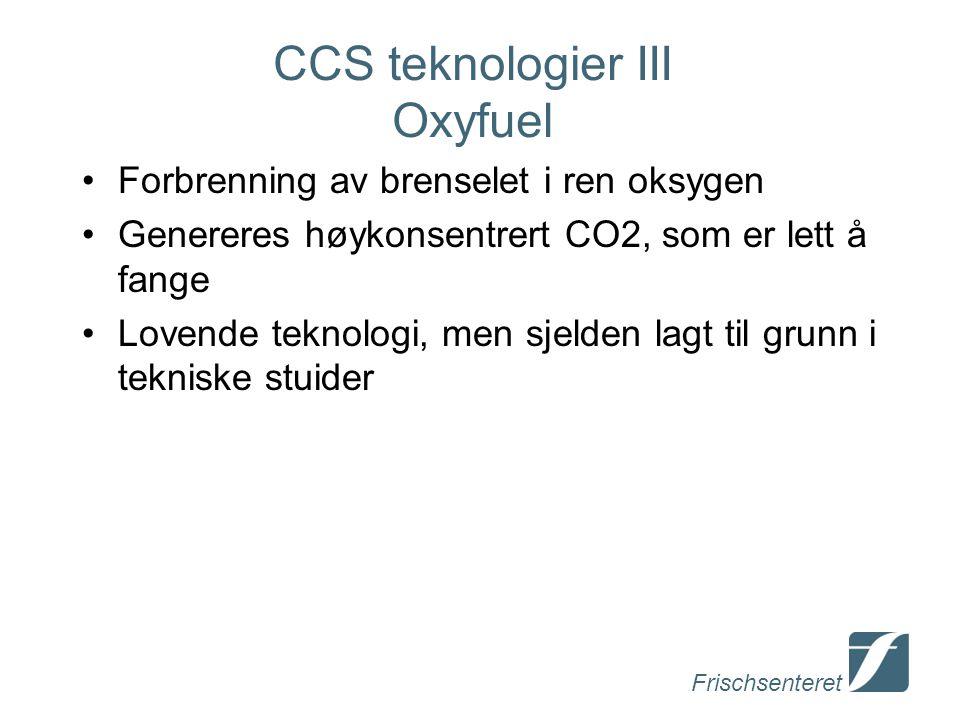 CCS teknologier III Oxyfuel