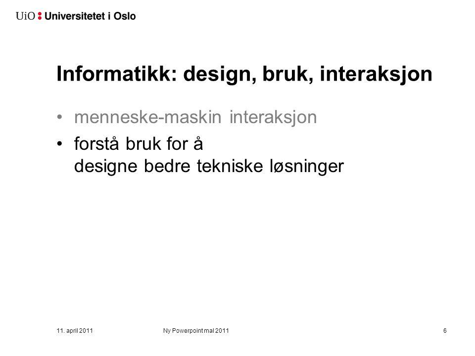 Informatikk: design, bruk, interaksjon