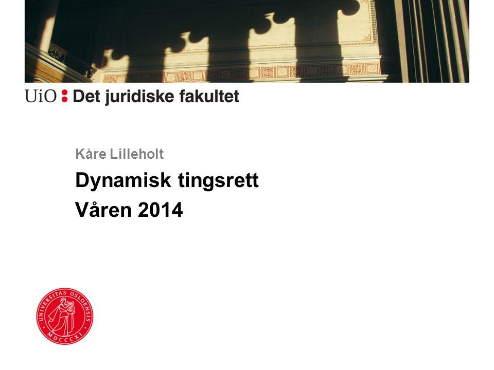 Dynamisk tingsrett Våren 2014