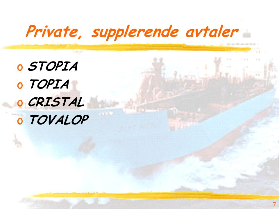 Private, supplerende avtaler