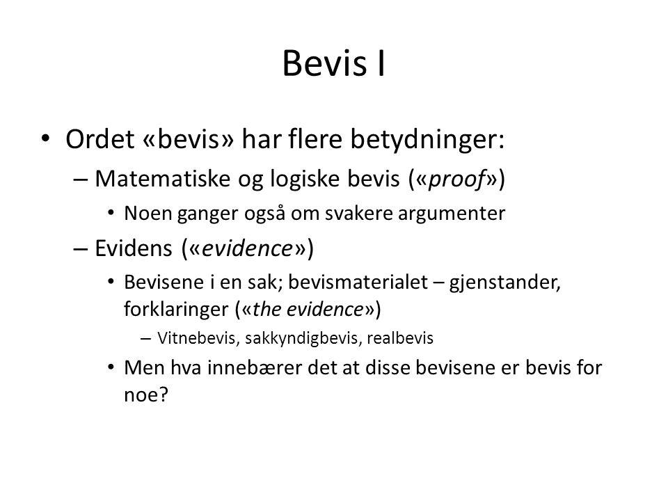 Bevis I Ordet «bevis» har flere betydninger: