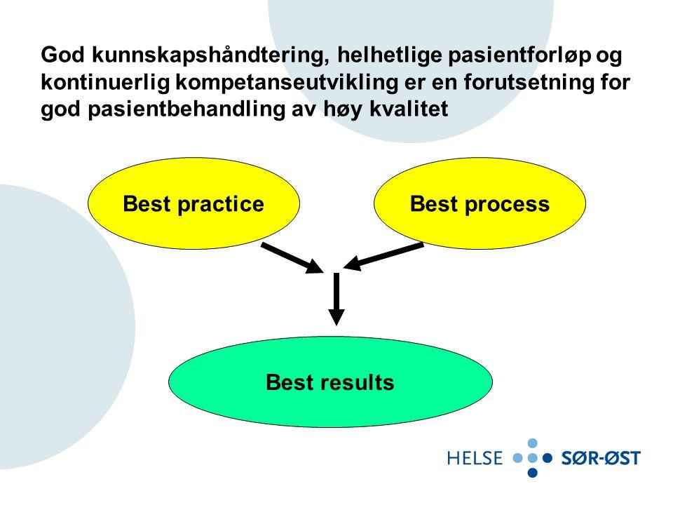 God kunnskapshåndtering, helhetlige pasientforløp og kontinuerlig kompetanseutvikling er en forutsetning for god pasientbehandling av høy kvalitet