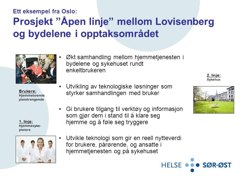 Ett eksempel fra Oslo: Prosjekt Åpen linje mellom Lovisenberg og bydelene i opptaksområdet