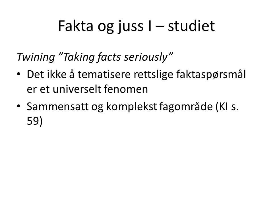 Fakta og juss I – studiet