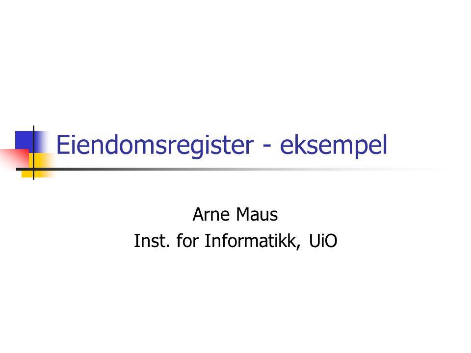 Eiendomsregister - eksempel