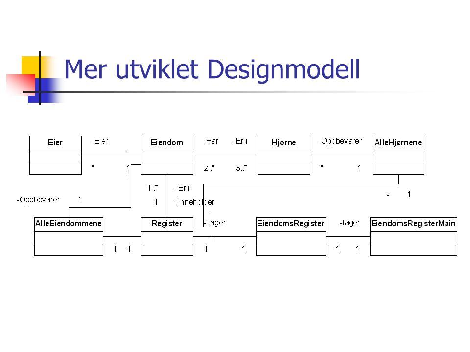 Mer utviklet Designmodell