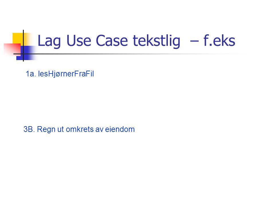 Lag Use Case tekstlig – f.eks