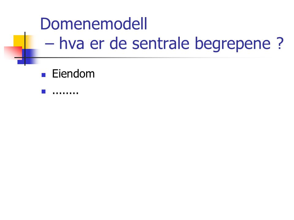 Domenemodell – hva er de sentrale begrepene