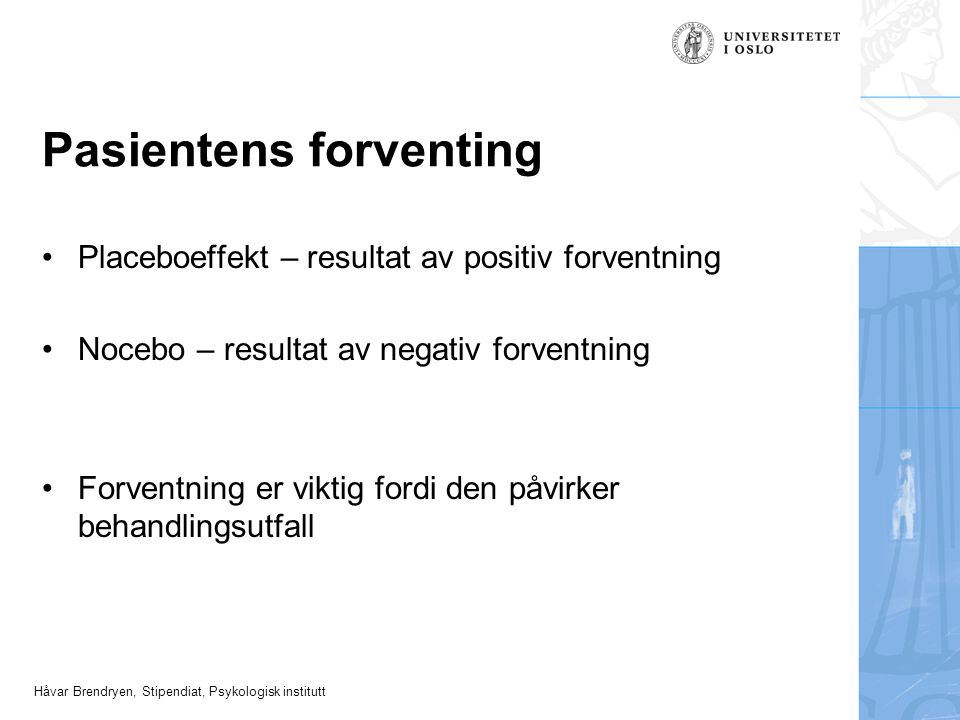 Pasientens forventing