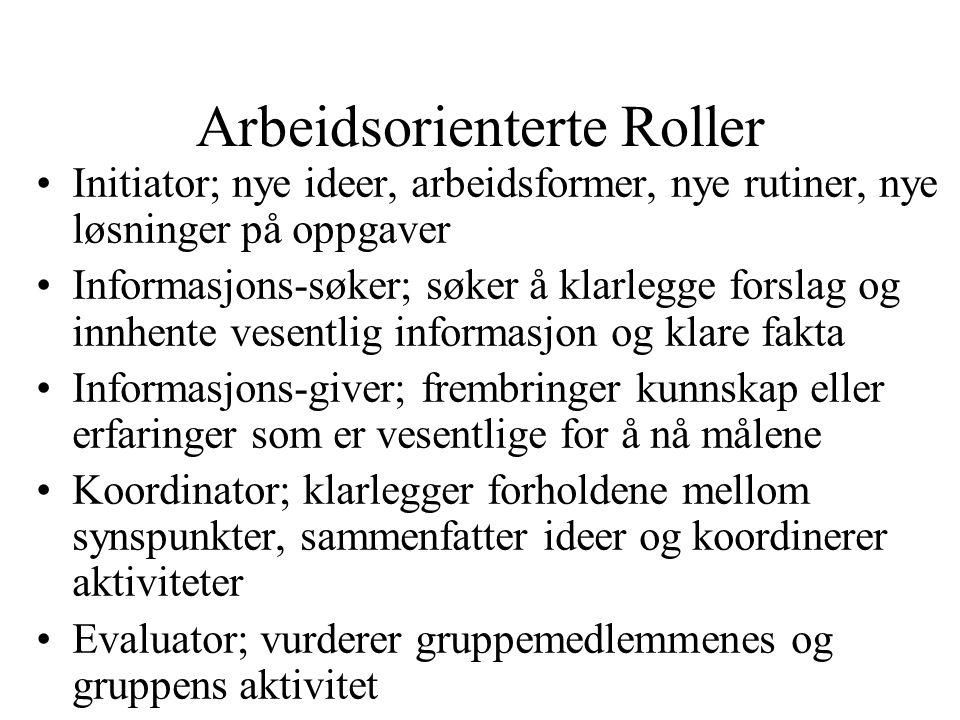 Arbeidsorienterte Roller