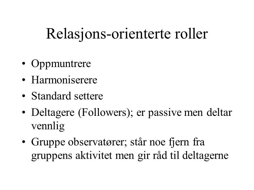 Relasjons-orienterte roller