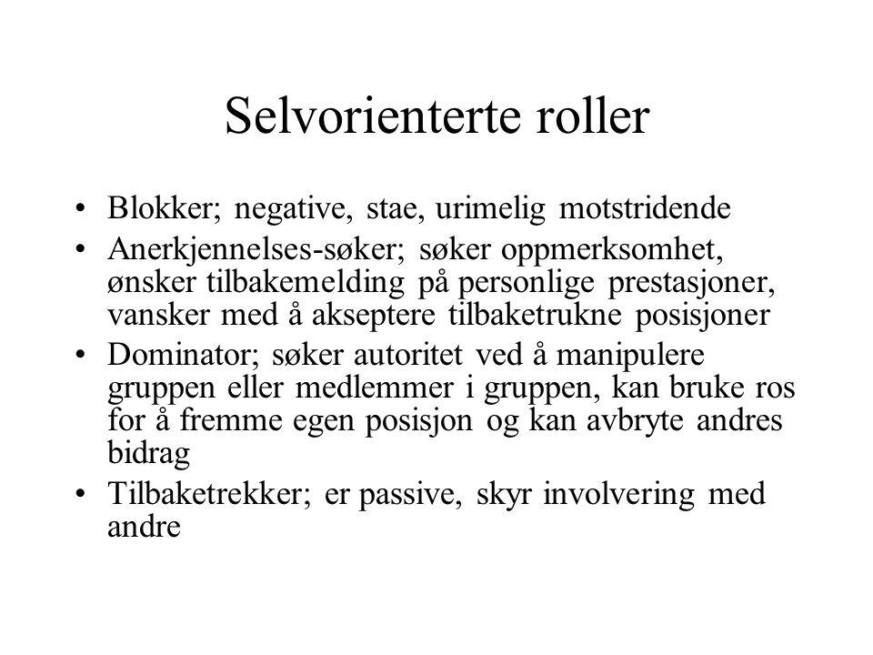 Selvorienterte roller