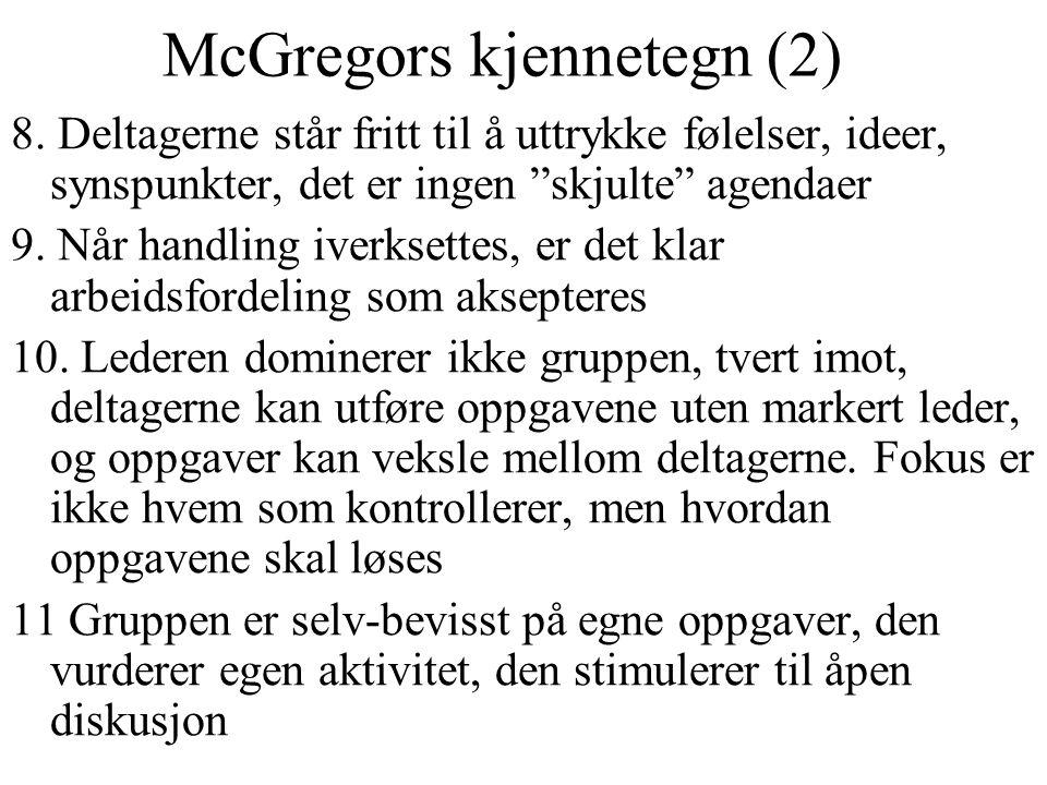 McGregors kjennetegn (2)