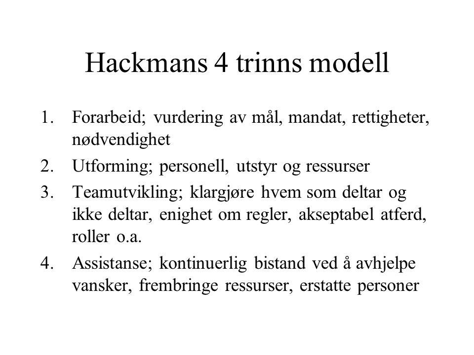 Hackmans 4 trinns modell