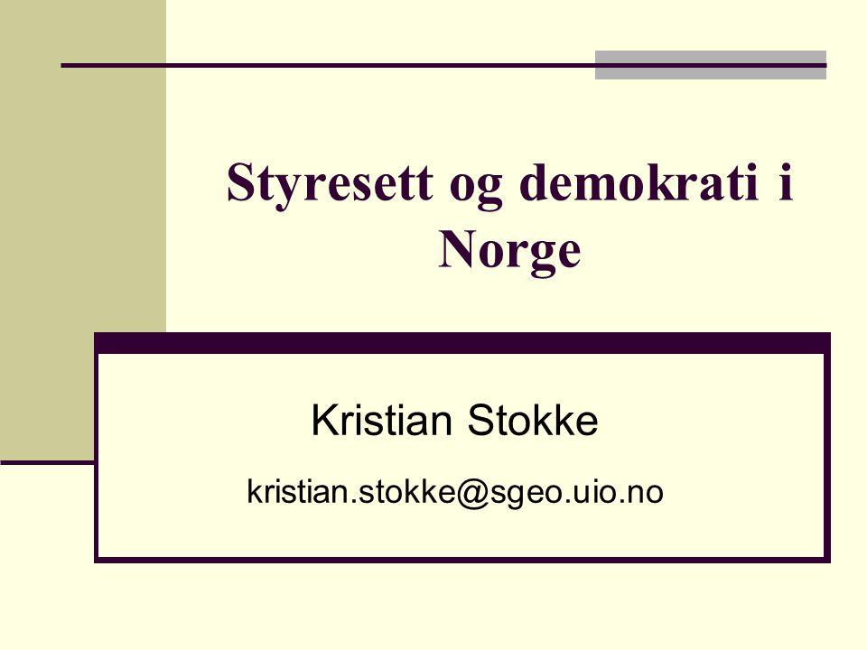 Styresett og demokrati i Norge
