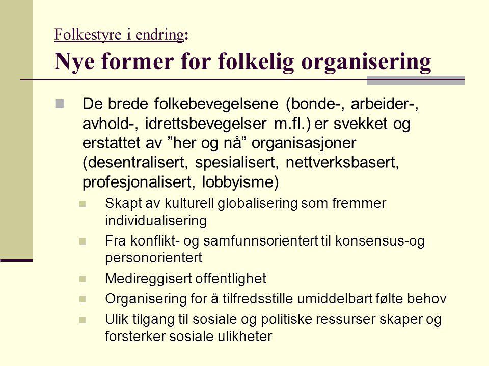Folkestyre i endring: Nye former for folkelig organisering