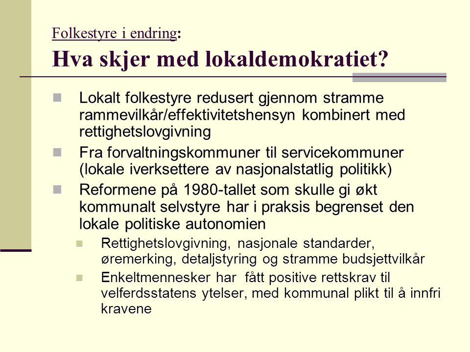 Folkestyre i endring: Hva skjer med lokaldemokratiet