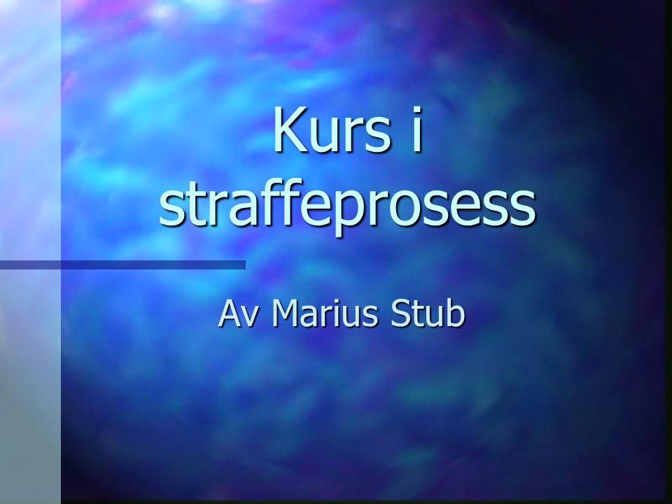 Kurs i straffeprosess Av Marius Stub