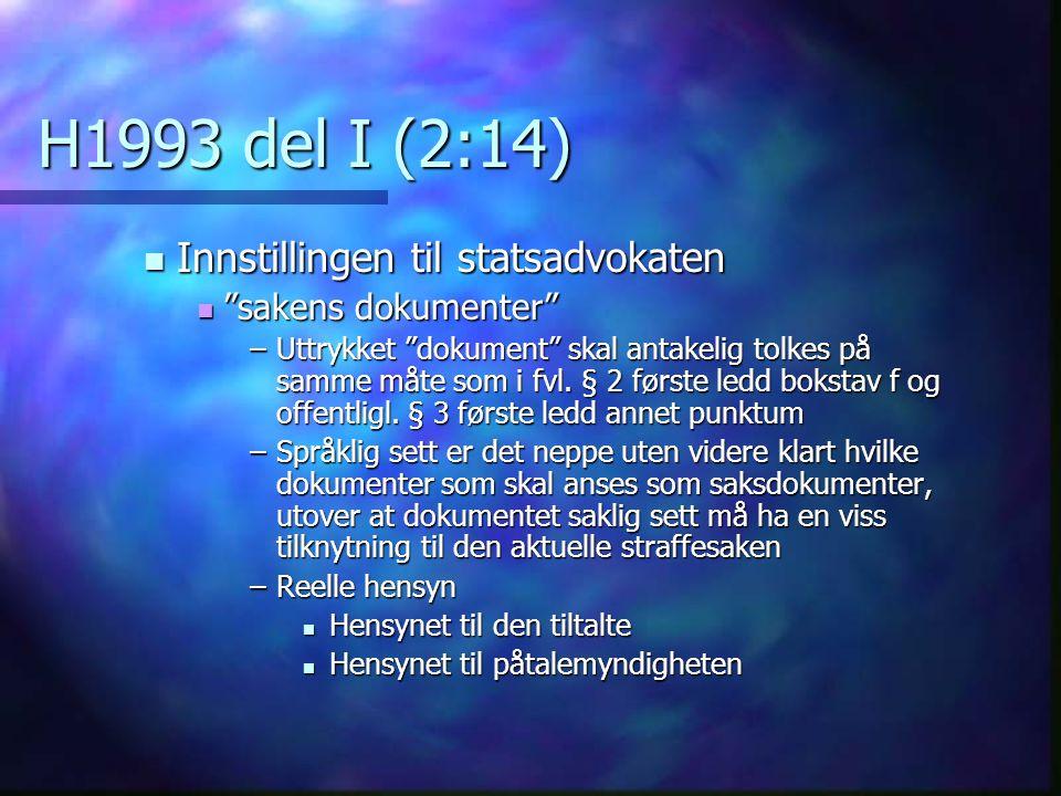 H1993 del I (2:14) Innstillingen til statsadvokaten
