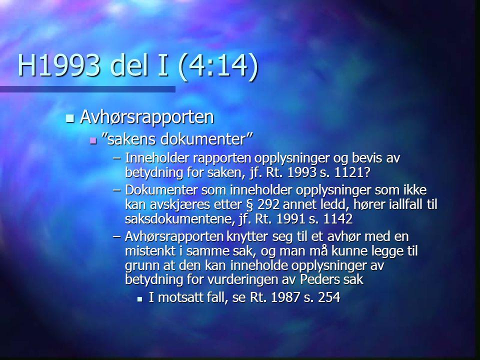 H1993 del I (4:14) Avhørsrapporten sakens dokumenter