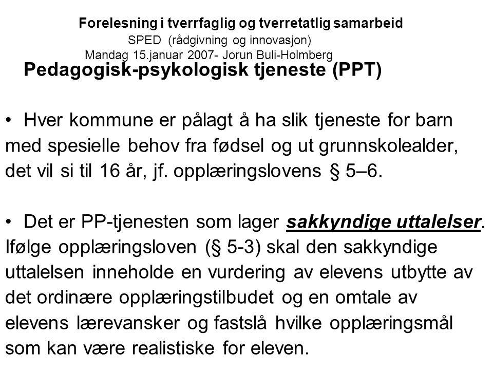 Pedagogisk-psykologisk tjeneste (PPT)