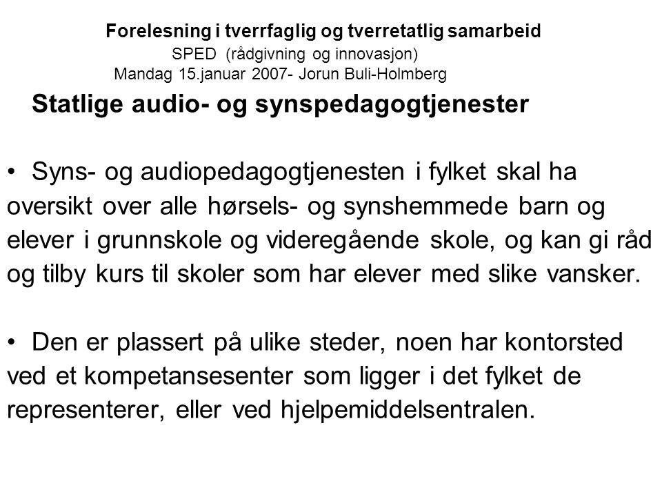 Statlige audio- og synspedagogtjenester