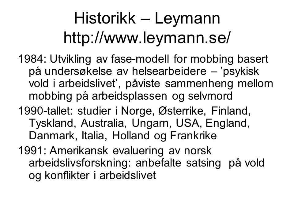 Historikk – Leymann http://www.leymann.se/