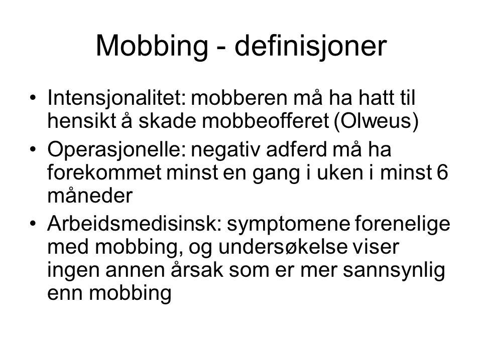 Mobbing - definisjoner