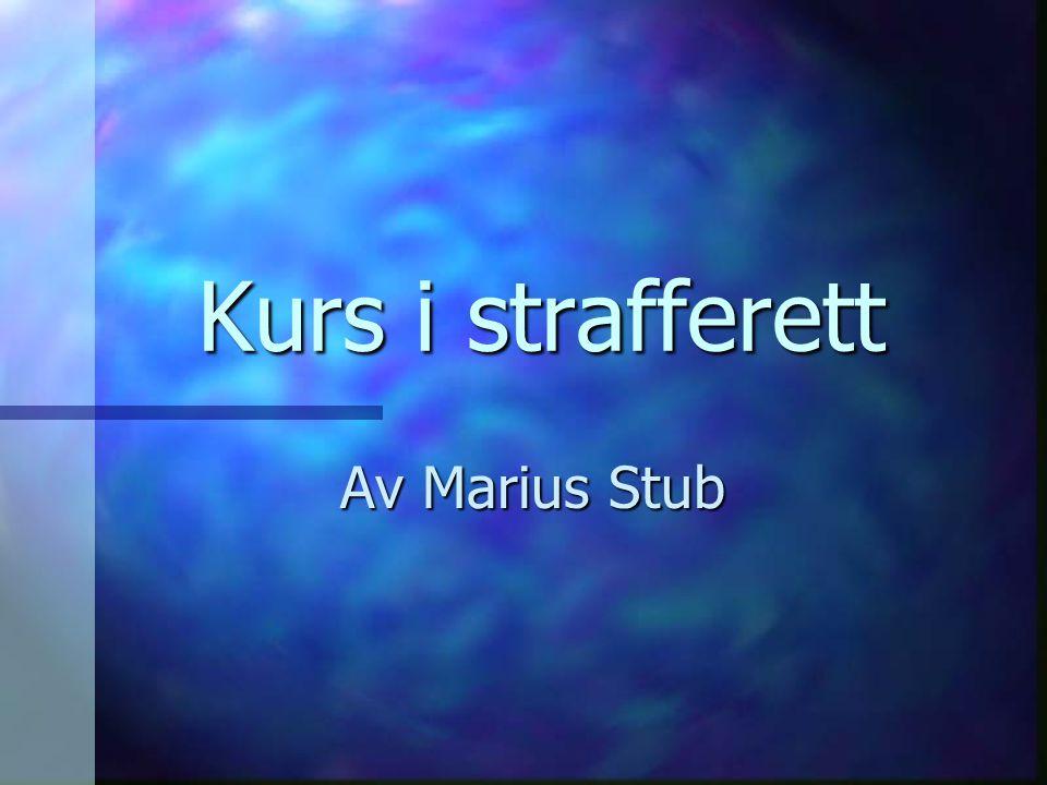 Kurs i strafferett Av Marius Stub