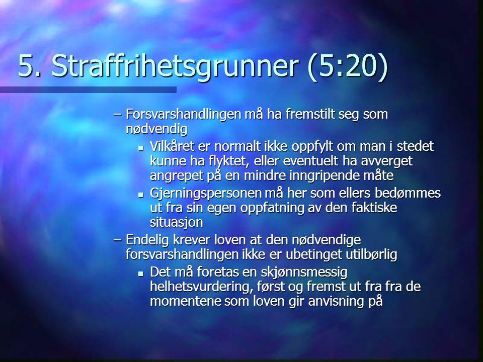 5. Straffrihetsgrunner (5:20)
