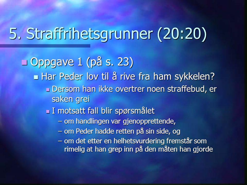 5. Straffrihetsgrunner (20:20)