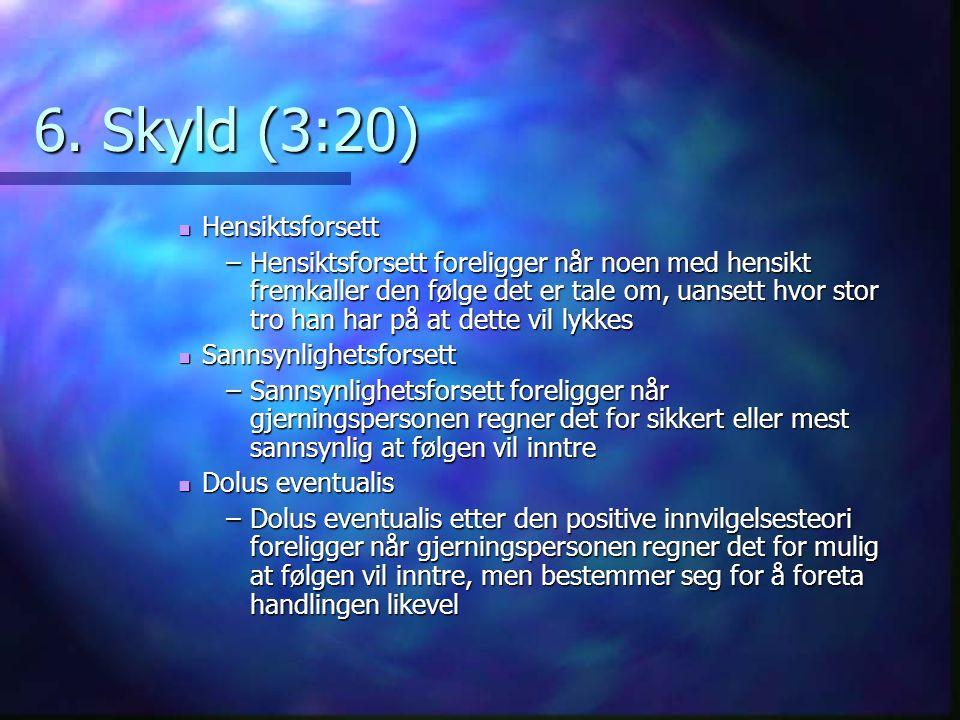 6. Skyld (3:20) Hensiktsforsett