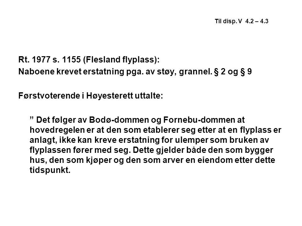 Rt. 1977 s. 1155 (Flesland flyplass):